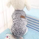 Idepet Pet Dog Classic Knitwear Sweater,Fleece Coat for Small,Medium,Large Dog,Warm Pet Dog Cat Clothes,Soft Puppy Customes
