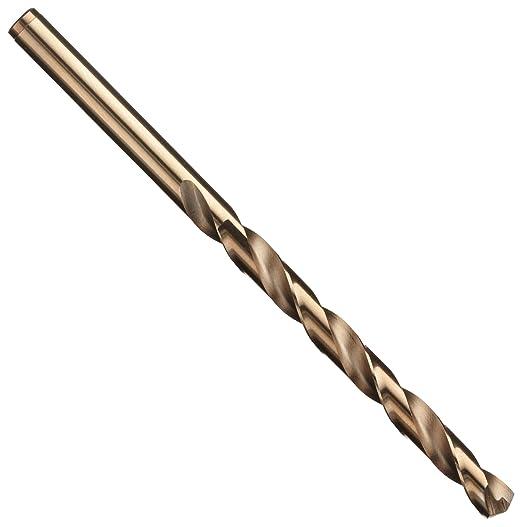 Bronze Oxide Finish Round Shank Pack of 12 Precision Twist R18CO Cobalt Steel Jobber Drill Bit 135 Degree Point Angle Spiral Flute 16
