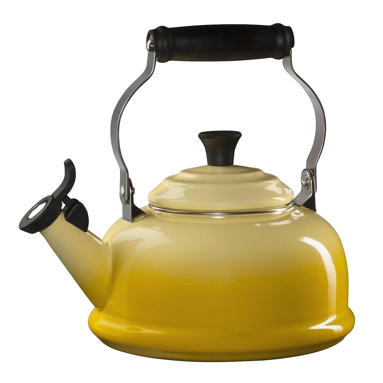 amazoncom le creuset enamelonsteel whistling quart  - amazoncom le creuset enamelonsteel whistling quart teakettlesoleil le creuset classic whistling tea kettle kitchen  dining