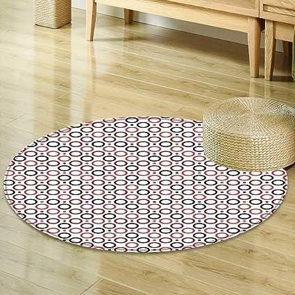 Amazon Com Mikihome Round Area Rug Art Deco Modern Geometric