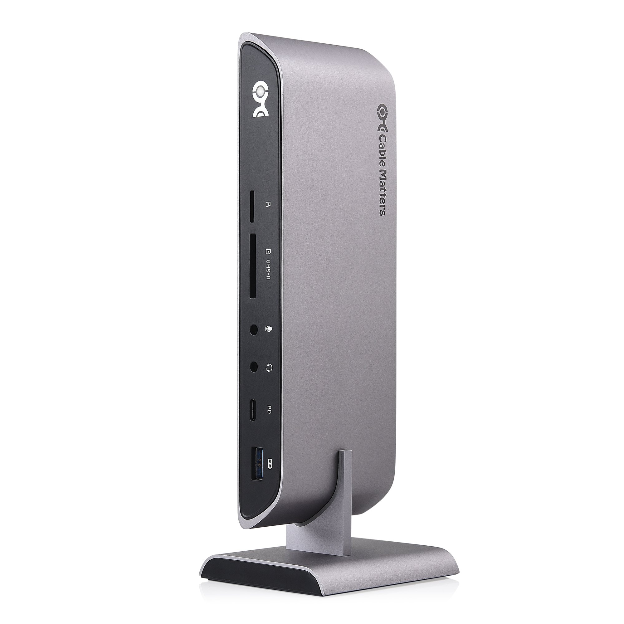 Cable Matters 10Gbps USB C Dock (USB C Docking Station) with Dual 4K DisplayPort and 80W Charging for Windows - USB-C & Thunderbolt 3 Port Compatible - Supports One External Display with MacBook Pro
