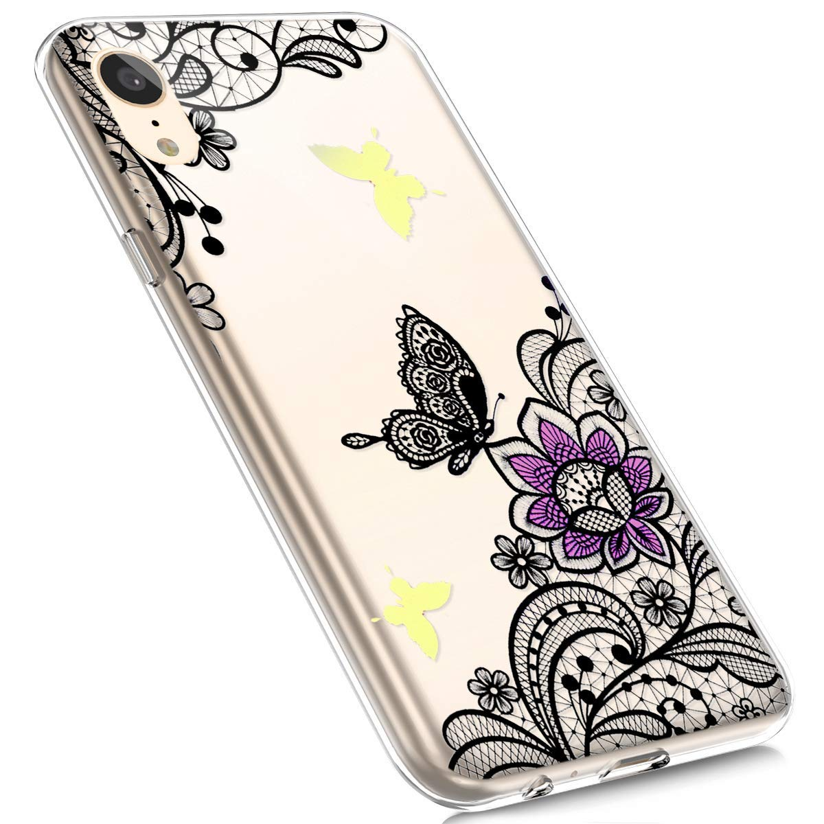 MoreChioce kompatibel mit iPhone XR Hü lle, Silikon Hü lle kompatibel iPhone XR Durchsichtig TPU Schutzhü lle Bumper Bunt Muster Transparent Kristall Handyhü lle