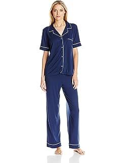 049504d7968 Eberjey Women s Gisele Two-Piece Short Sleeve   Pant Pajama Sleepwear Set