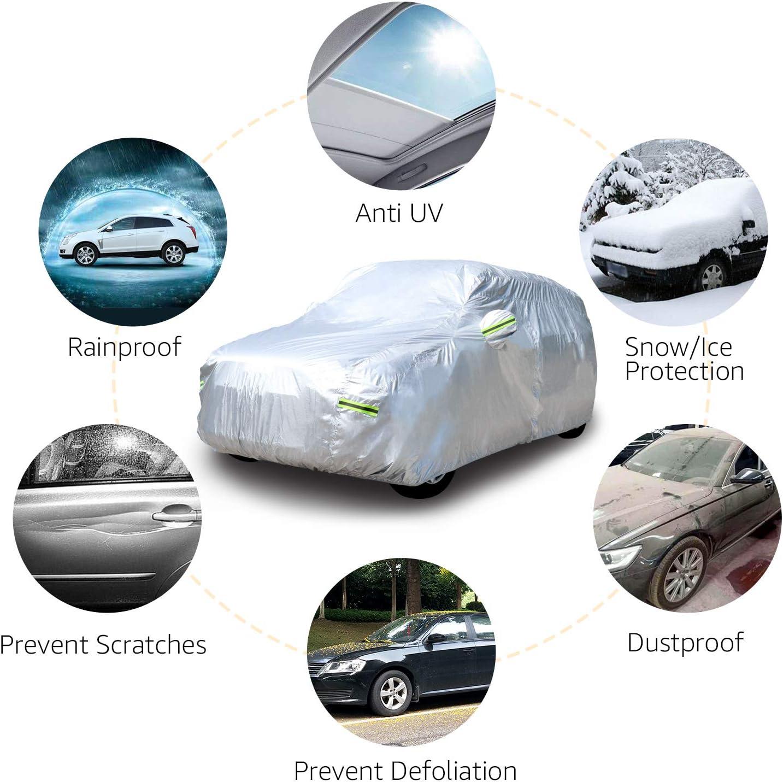 Plateada PEVA Funda resistente a la intemperie para veh/ículo con algod/ón Basics de hasta 470/cm SUV etilvinilacetato para todocaminos