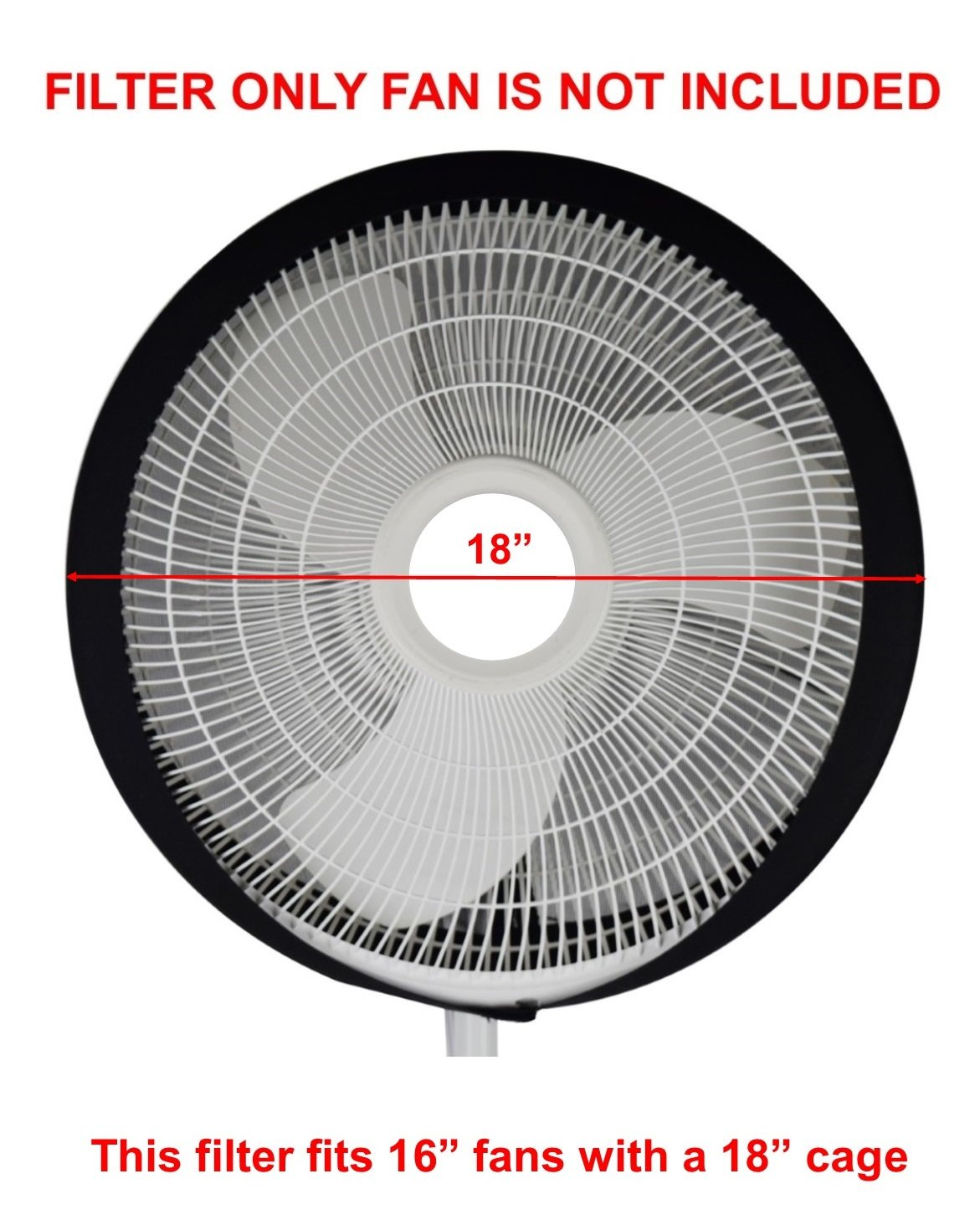 Amazon.com: New Fan Buddy Fan Filter with Replaceable Activated Carbon Layers - Made for 16