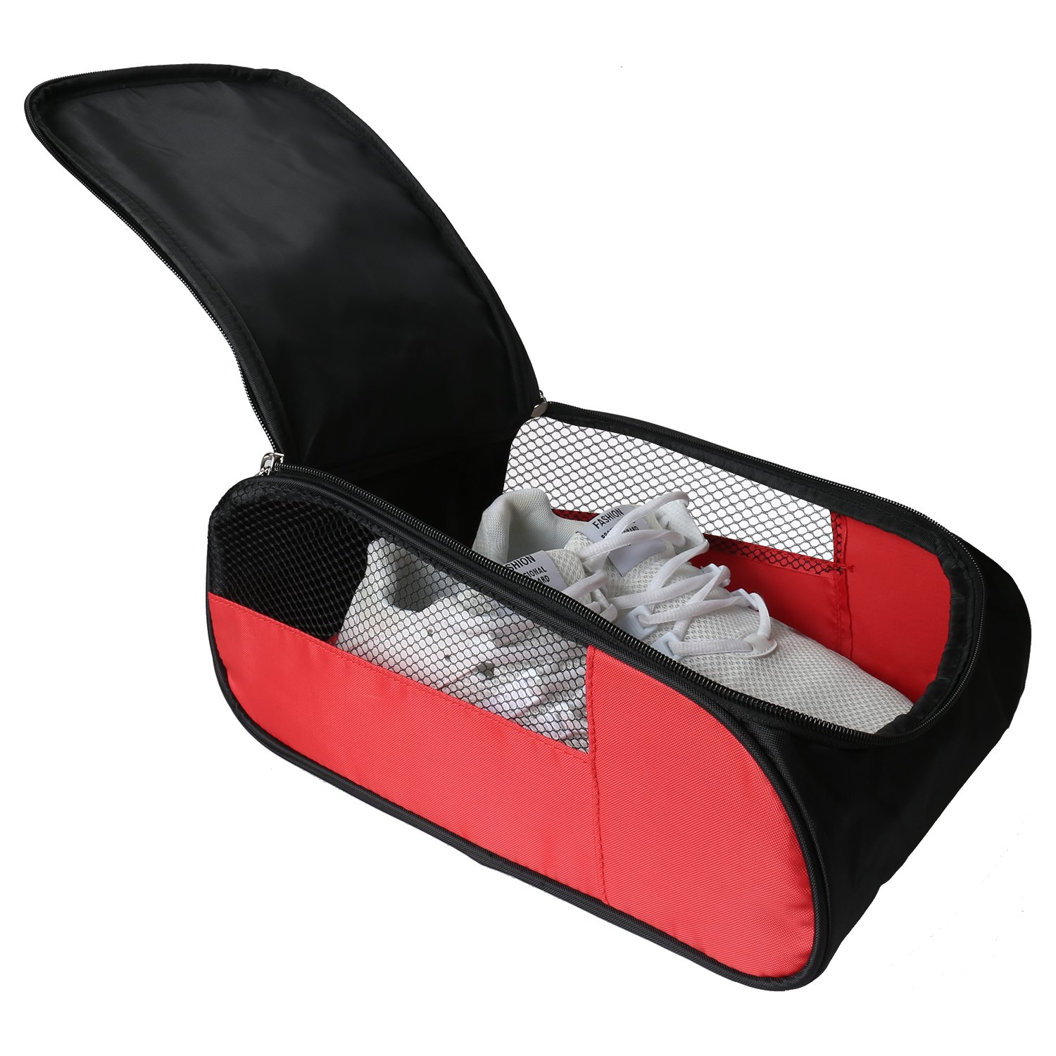 Outdoor Golf Shoes Bags Travel Shoes Bags Zippered Sport Shoes Bag (Red) by Getfitsoo