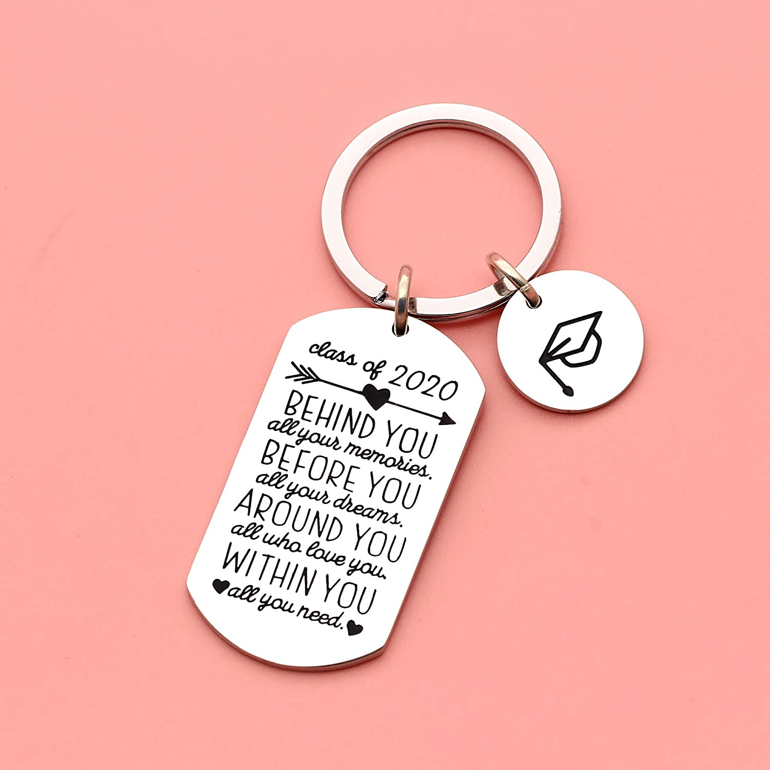Trencher Cap Pendant Maxforever Inspirational Keyring Graduation Gifts Key Ring for Class 2020 Her Him Daughter Son Best Friend College Boys Girls