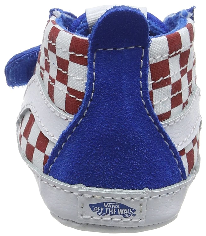 Vans Baby in SK8 Hi Crib Crawling Shoes Blue Checkerboard Racing