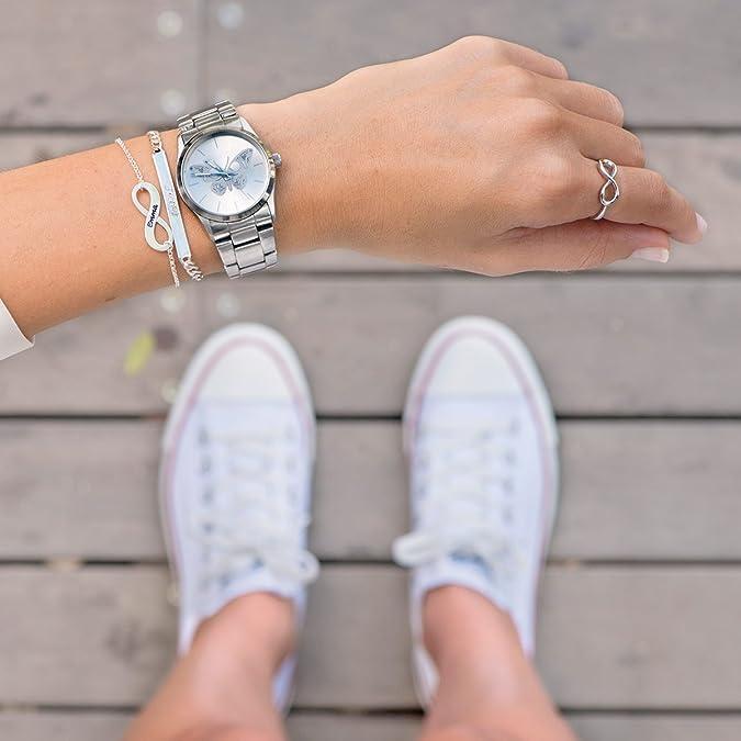 Ihr Persönlicher Schmuck Silber Infinity-Unendlich Armband- Personalisiert  mit Ihrem eigenen Wunschnamen!  Amazon.de  Schmuck 466d3b5065