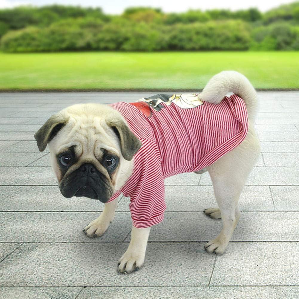BHNDALB Niedliche Hundekleidung F/ür Kleine Hunde Katzen Mops Bulldogge Chihuahua Baumwolle Haustierkleidung Welpenhemd///Sommer Hund Weste T-Shirts