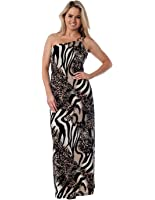 Alki'i Women's One Shoulder Ring Maxi Dress