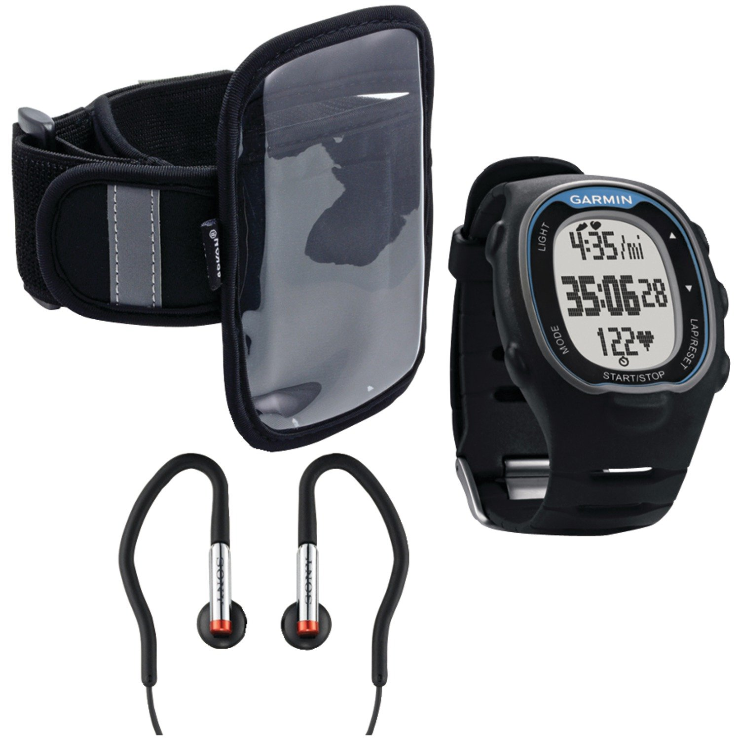 Garmin  010-00743-70 Forerunner 70 with Arkon XL-ARMBAND Sports Armband and Sony MDRAS40EX Sport Earbuds