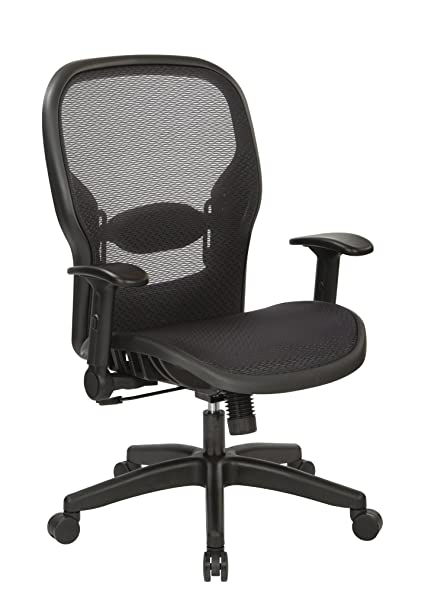 Merveilleux Office Star Space Seating Air Grid Back And Seat Managers Chair With  Adjustable Flip Arms,