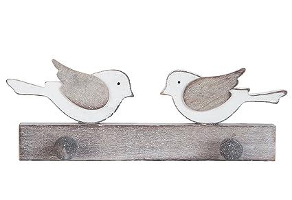Perchero de pared de diseño de pájaros de madera hecho a ...