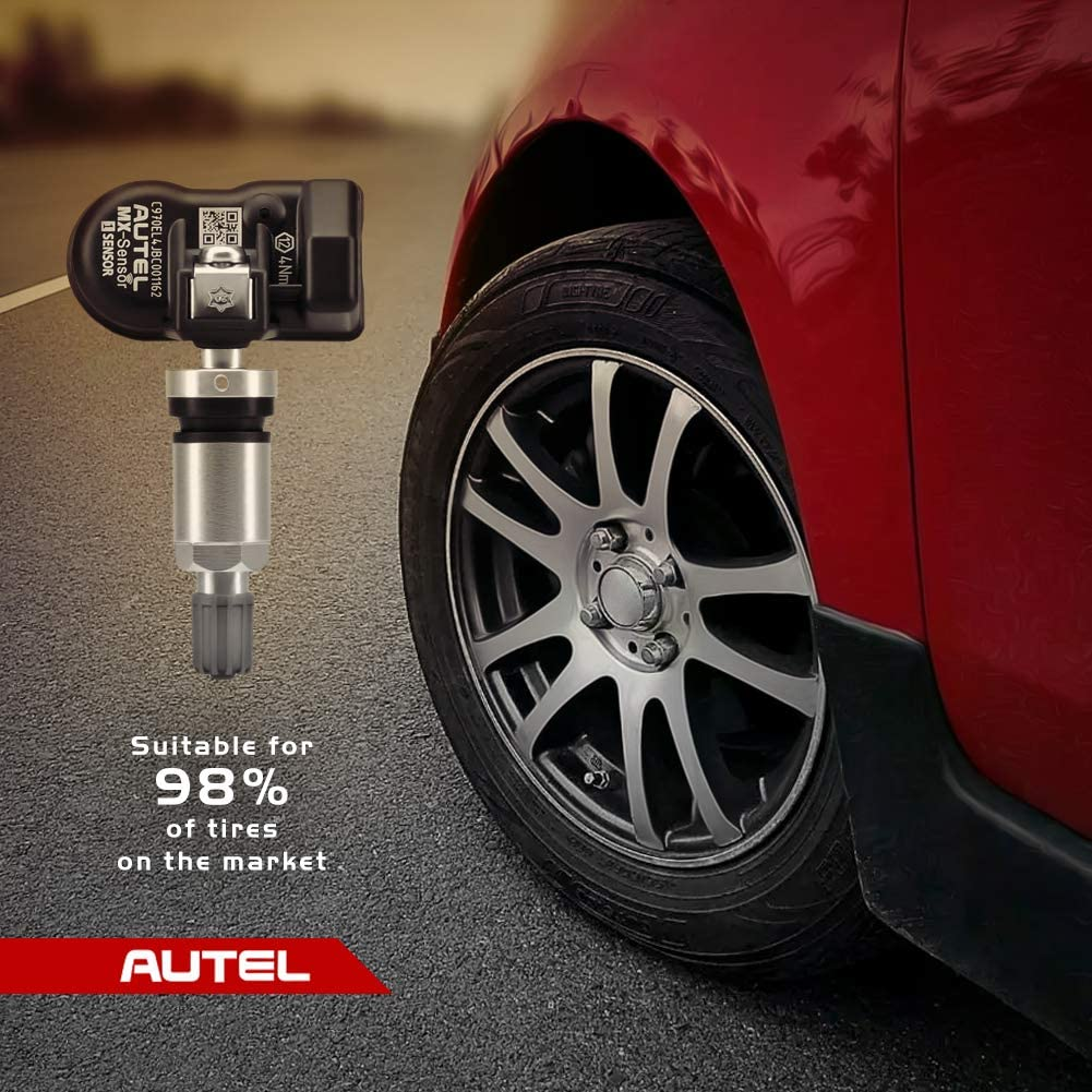 Pack of 4PCS 315MHz Autel TPMS Sensor 433MHz OE-Level 100/% Clone-able Programmable Sensors Fits 98/% Mainstream Vehicles with Metal Valves for Tire Pressure Monitoring System Screw-in