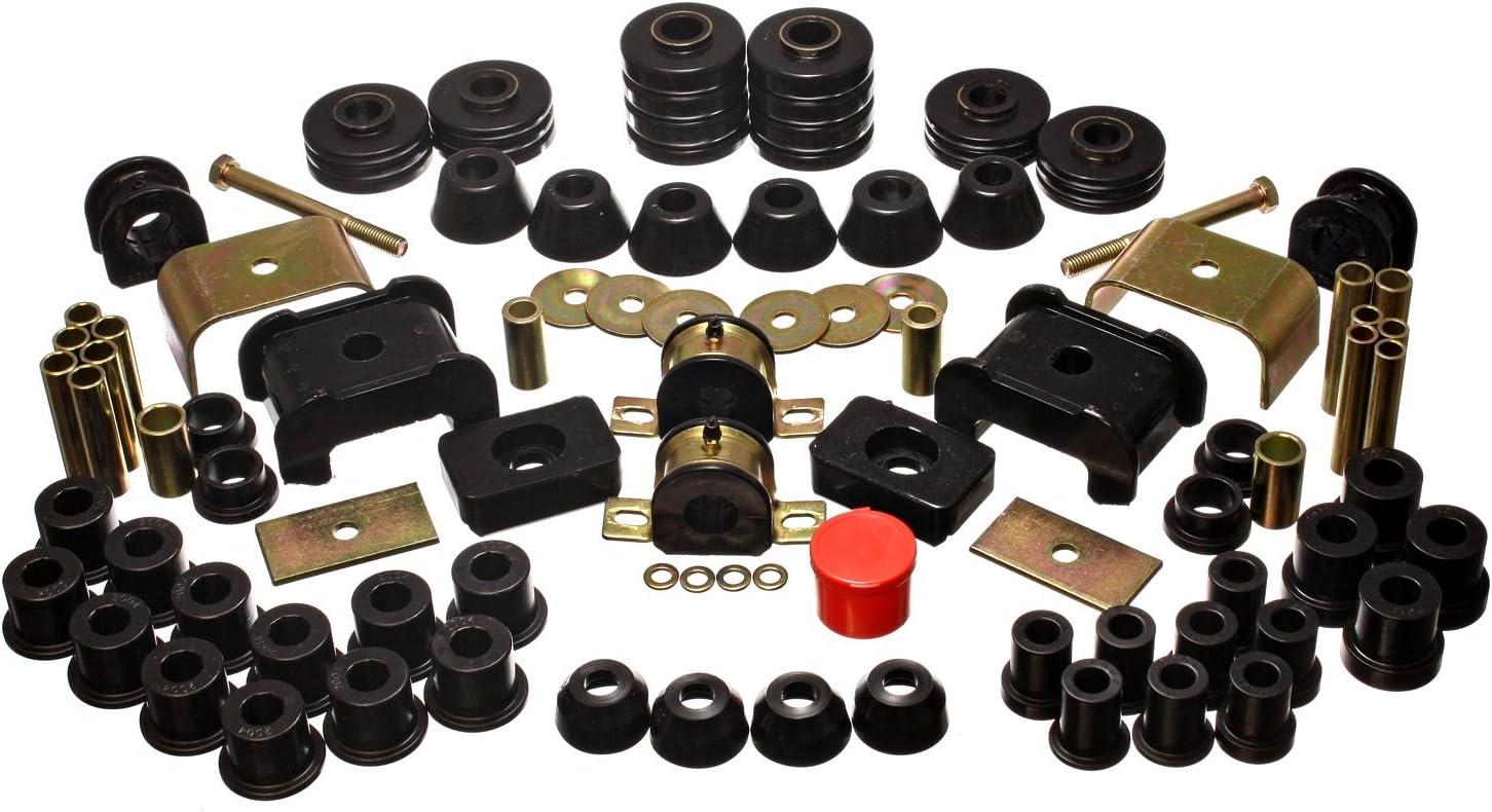 Black K20 Energy Suspension Hyperflex Bushing Kits Bushing Kit Polyurethane GMC K2500 Pickup K25 Kit K10 K1500 Chevy Energy Suspension 318105G Bushings K15