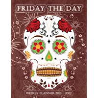 "Image for Sugar Skull Weekly Planner 2021 - 2022: Schedule Seize the Day 24-Month Calendar for Men/Women Year Organizer Book, Pocket Calendar with to do lists + holidays / 8.5""x11"" 116 pages"