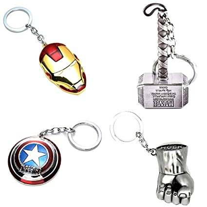 Amazon.com: Tugend-Ära Latest Collecton Avengers Key Chains ...
