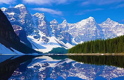 "Lake Mountains Forests Sky Waterfall Landscape Nature Art Poster 21/""x13/"" 013"