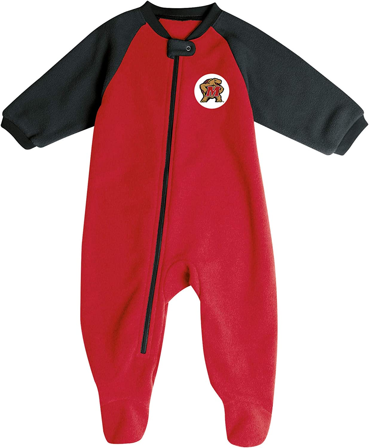 Pro Edge Infants NCAA Fleece Blanket Sleeper Footed Pajamas Romper