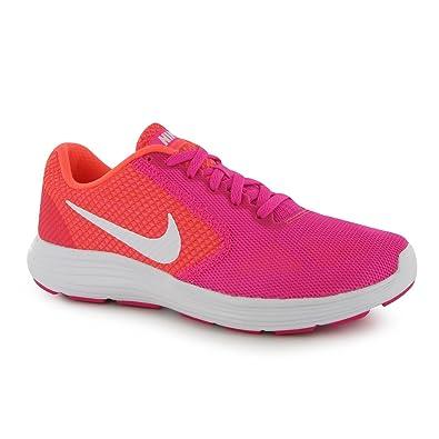 Nike Revolution Chaussures de course à pied pour femme Rose/blanc Run  Fitness Baskets Sneakers