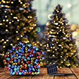 25M 200LED String Solar Powered Fairy Lights Garden Christmas Decor Multi Colour Multi-Coloured 25m/200LED
