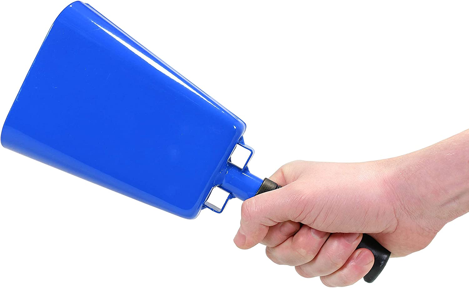 Weddings /& Cheering Complete with a Plastic French Horn Blue 342GC 11 Blue Cowbell Noisemaker With Plastic Handle and Zinc Alloy Clapper for Sporting Events