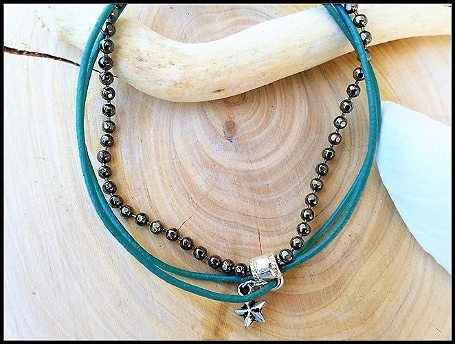 Turquoise Ankle Bracelet Leather Boho Anklet With Charm Amazon Co