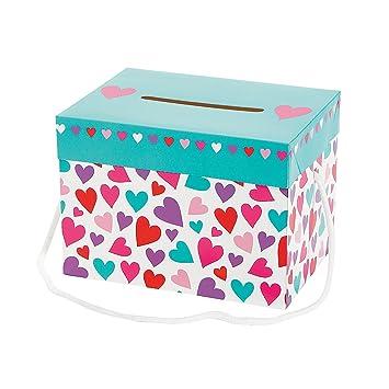 Día de San Valentín tarjeta cajas – 1 docena, diseño de corazones, de la