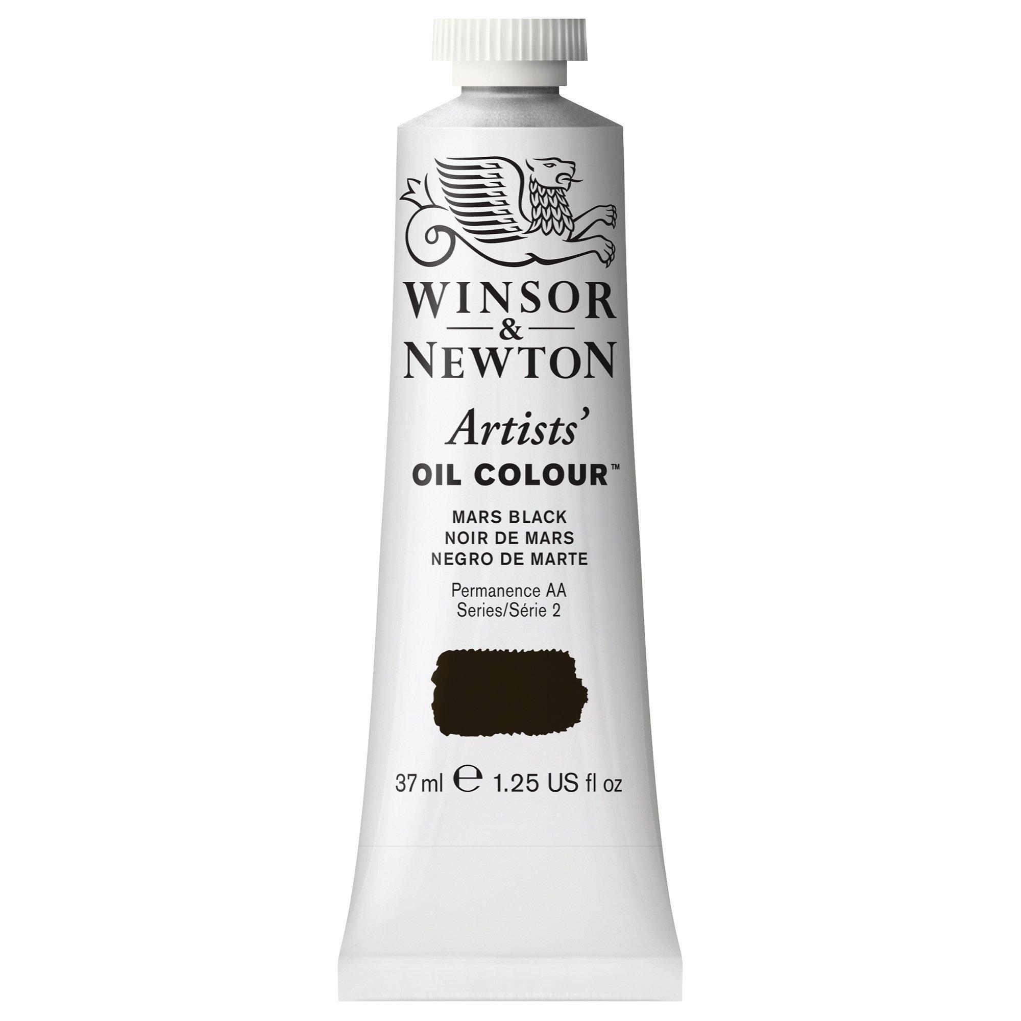 Winsor & Newton Artists' Oil Colour Paint, 37ml Tube, Mars Black
