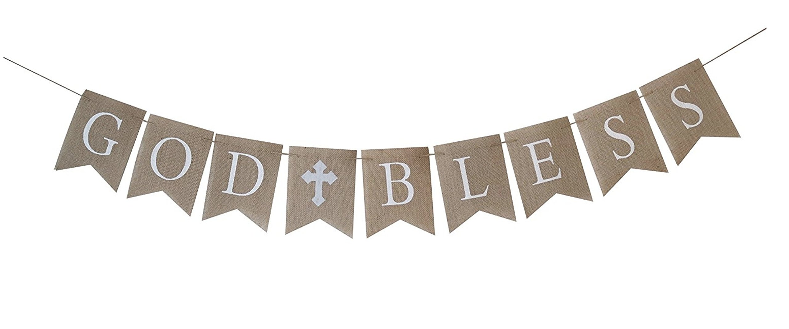 Large GRAY/SILVER Communion Party Banner, Baptism Decoration. God Bless Banner by Swaxbees