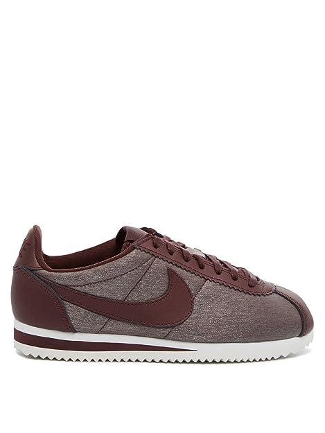 Zapatillas Nike - Wmns Classic Cortez Prem Granate/Granate/Blanco Talla: 38,5: Amazon.es: Zapatos y complementos