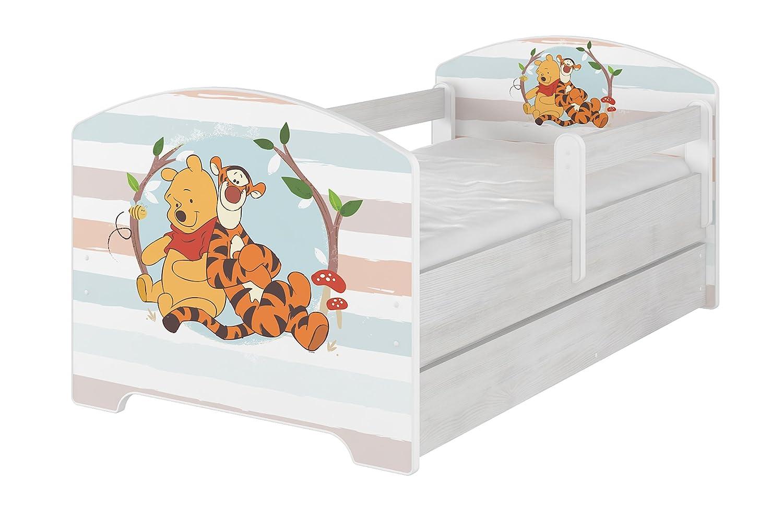 Original Disneys Kinderbett mit Rausfallschutz Schublade und Matratze
