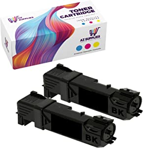 AZ Compatible Toner Cartridges Replacement for Dell 2130 (T106C) use in Dell 2130CN Dell 2135CN (Black, 2-Pack)