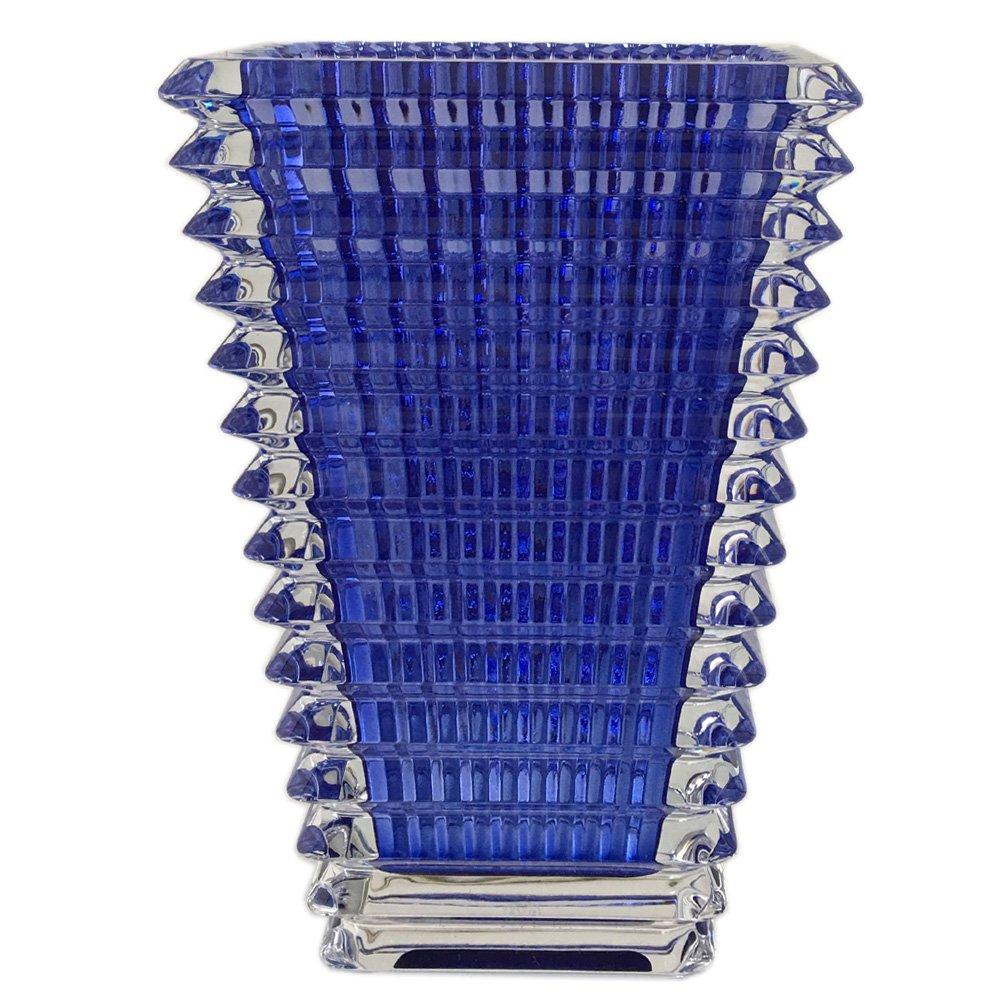 バカラ Baccarat アイ EYE スクエア ベース 花瓶 ブルー S 20cm 2811104 [並行輸入品] B06WW99PYW