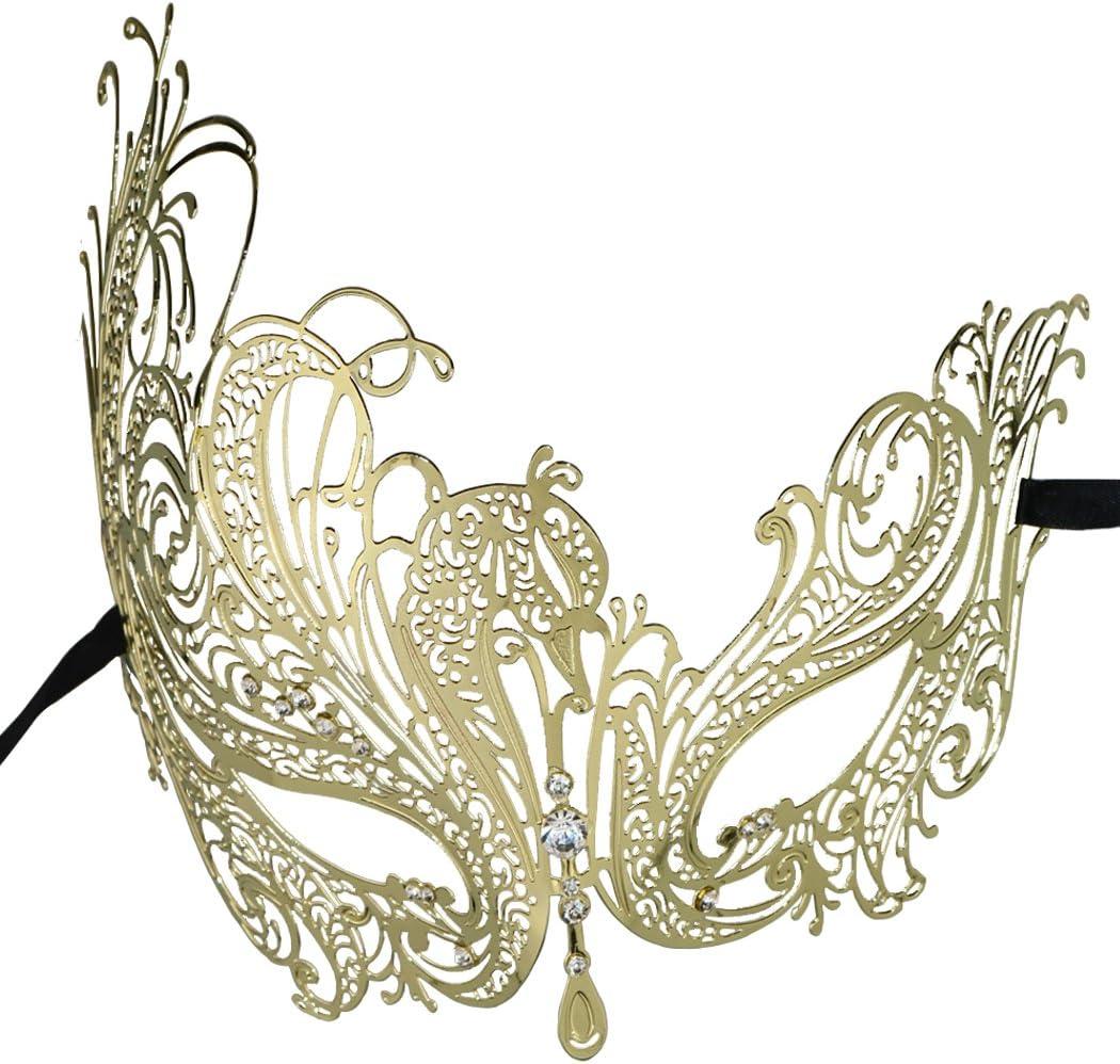 Filigree Metal Venetian Masquerade Mask New Night Life Rose Gold Collection