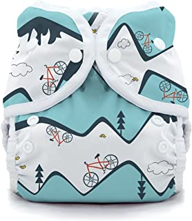 product image for Thirsties Duo Wrap Cloth Diaper Cover, Snap Closure, Mountain Bike Size One (6-18 lbs)