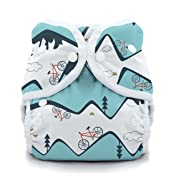 Thirsties Duo Wrap Cloth Diaper Cover, Snap Closure, Mountain Bike Size One (6-18 lbs)