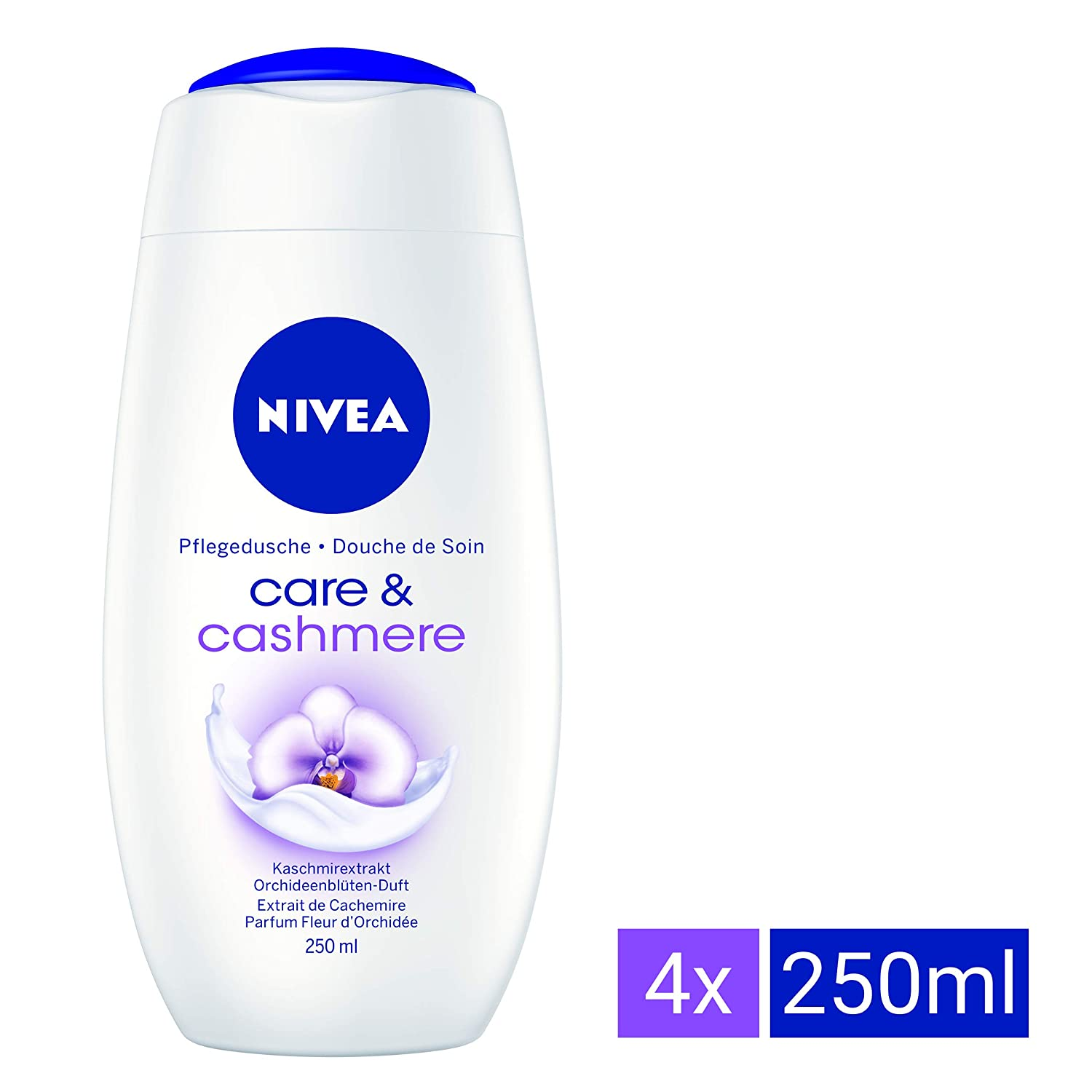 Nivea Care and Cashmere Moments, Doccia olio-crema 4 pz. da 250 ml 81060-1