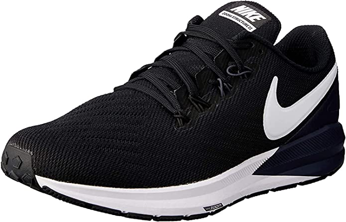 versus Perceptivo Expectativa  Nike Air Zoom Structure 22 Black/White/Gridiron 6.5 | Road Running -  Amazon.com