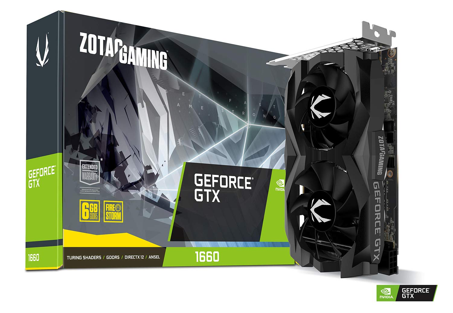 ZOTAC Gaming GeForce GTX 1660 6GB GDDR5 192-bit Gaming Graphics Card, Super Compact, ZT-T16600F-10L by ZOTAC