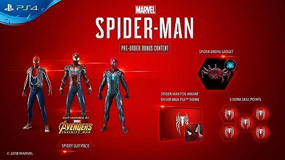 Limited Edition Amazing Red Marvels Spider-Man 1TB PS4 [Importación inglesa]: Amazon.es: Videojuegos