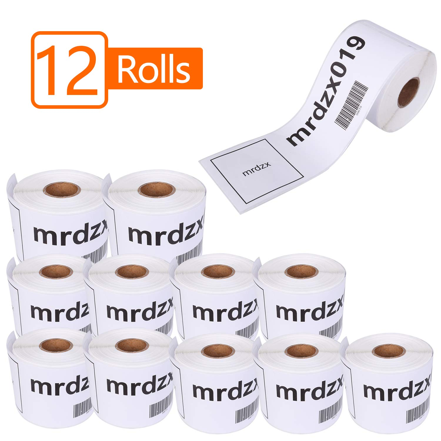 12 Rolls Compatible Dymo 99019 Internet Postage Labels, 2-5/16'' x 7-1/2'' LW 1 Part Paypal/Ebay/Replacement Labels for Labelwriter 400, 450, 4XL Printers,700 Labels Per Roll by mrdzx