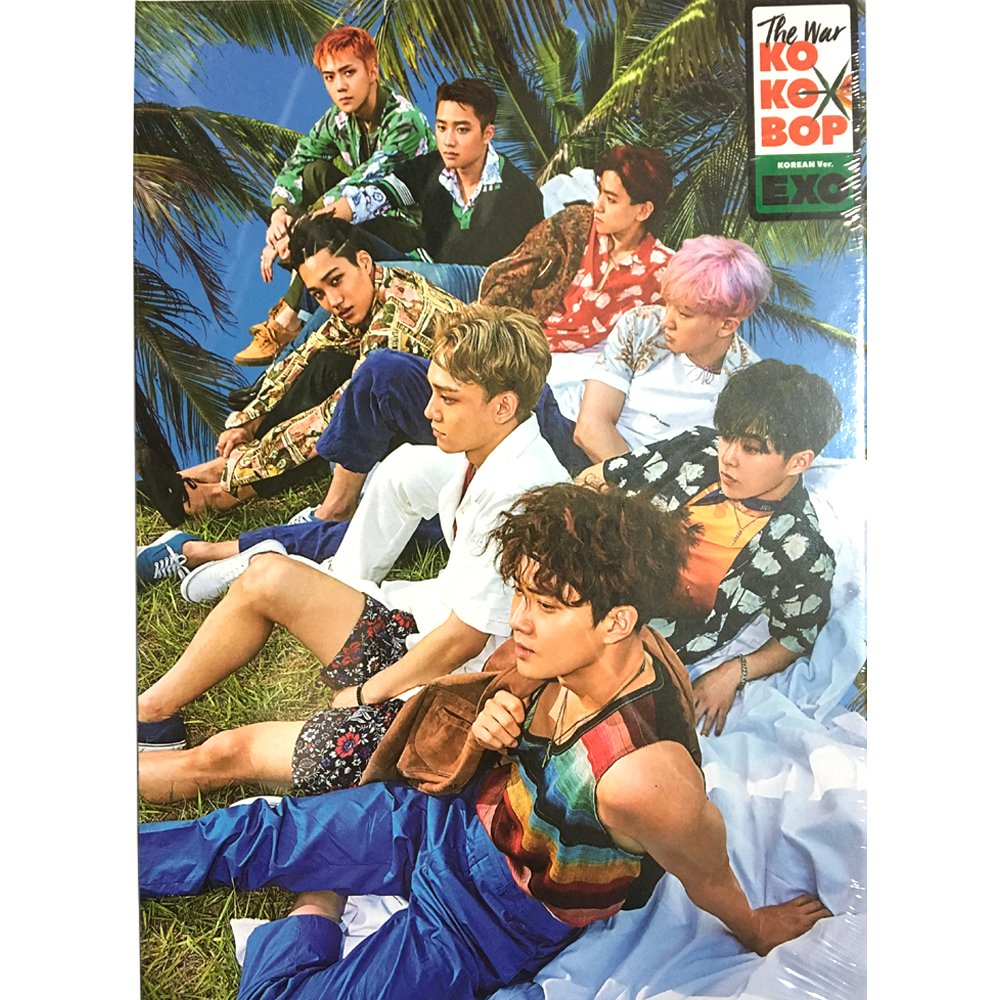EXO KPOP [Regular B] KOREAN Version The War 4th Album CD + Photobook + Photocard by SM Entertainment