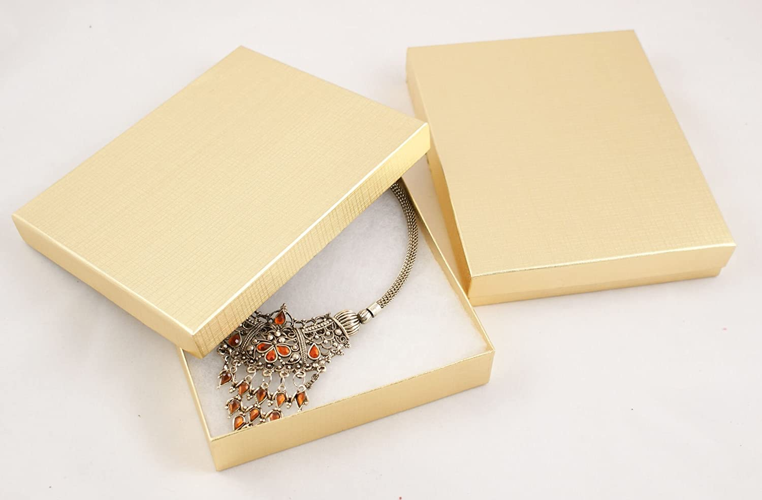 Cotton Filled Gold Linen Multi Purpose Purpose Purpose Necklace Sets Box - BD65 from 0 49 each B004WKJL54 | Creative