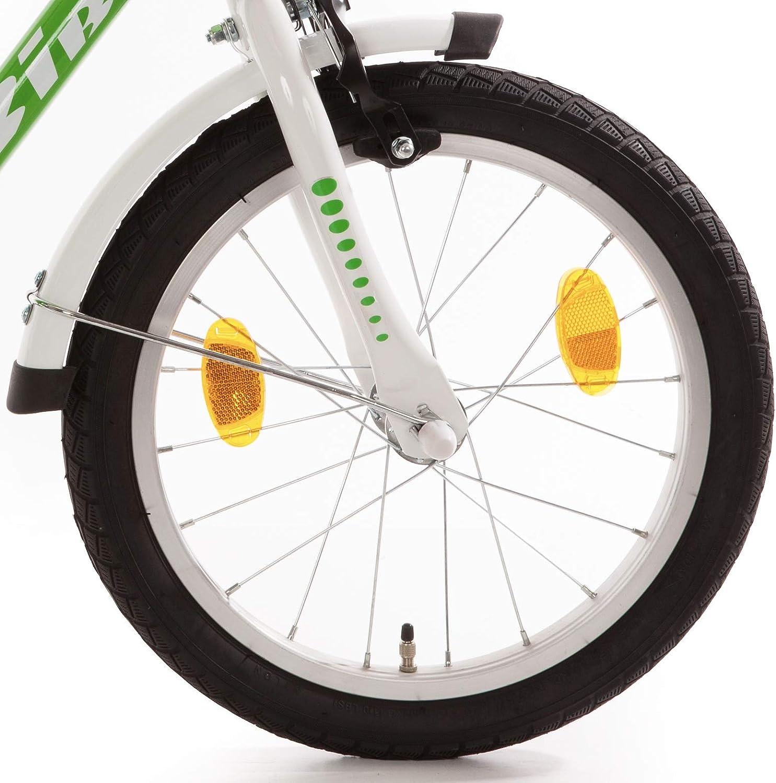 Kinderfahrrad 16 Zoll mit R/ücktrittbremse Fahrrad f/ür Kinder Junge M/ädchen Kinderrad gr/ün