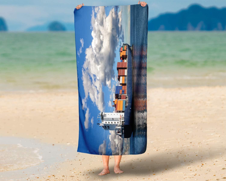 70x140 cm LimeWorks Telo Bagno Nave Porta-Container in Mare Aperto