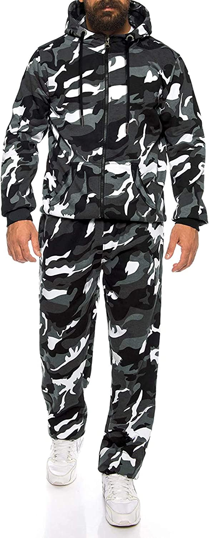 COOFANDY Mens Sweatsuits 2 Piece Hoodie Tracksuit Sets Casual Comfy Camo Jogging Suits for Men