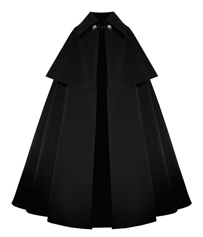 Vintage Coats & Jackets | Retro Coats and Jackets Victorian Historical Steampunk Gothic Renaissance Medieval Velvet Cape Cloak $139.00 AT vintagedancer.com