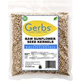 GERBS Raw Hulled Sunflower Seed Kernels, 14 ounce Bag, Top 14 Food Allergen Free, Non GMO, Vegan, Keto, Paleo Friendly